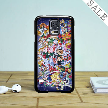 Walt Disney Christmas All Character Design Samsung Galaxy S5 Case