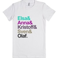 Frozen - Helvetica-Female White T-Shirt