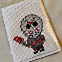 JASON VORHEES Friday the 13th Slasher Magnet Cross Stitch Fridge Magnet