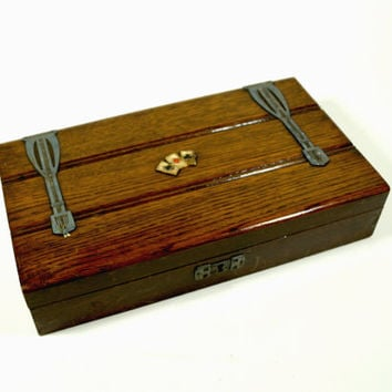 Wooden Box Vintage, Playing Card Box, Vintage Wooden box, Vintage cards box, Wooden Trinket Box, Wooden Storage, Wood box, Vintage box