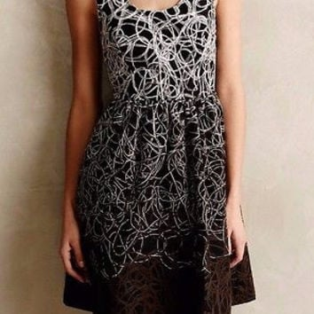 Anthropologie $178 Fading Tracery Dress Sz 0 - By Maeve - NWT