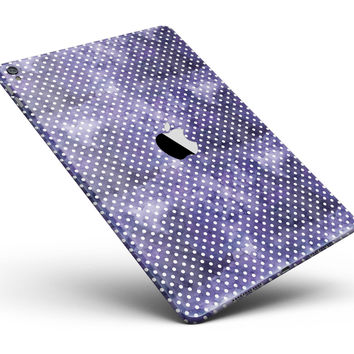 """White Polka Dots over Purple Watercolor V2 Full Body Skin for the iPad Pro (12.9"""" or 9.7"""" available)"""
