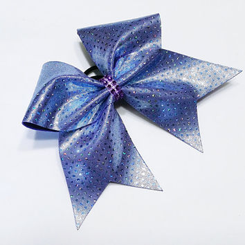 Cheer bow, Periwinkle cheer bow, sequin cheer bow, cheerleading bow, cheerleader bow, softball bow, pop warner cheer, dance bow, cheerbow