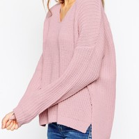 ASOS Ultimate Chunky Jumper With V-Neck