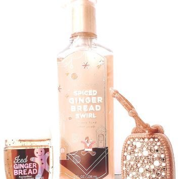 Bath & Body Works Spiced Gingerbread Deep Cleansing Hand Soap, PocketBac, Holder