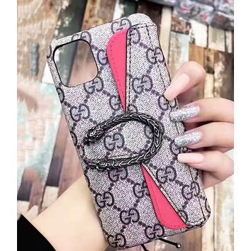 GUCCI Retro Fashion iPhone Phone Cover Case For iphone 6 6s 6plus 6s-plus 7 7plus 8 8plus iPhone 11 iPhone X XR XS XS MAX PRO MAX