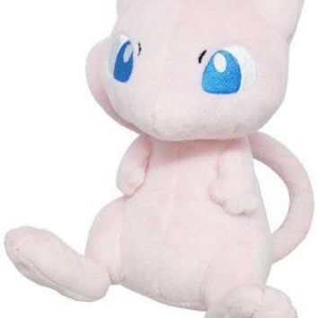 "Sanei PP20 Pokemon All Star Collection Mew 6.5"" Stuffed Plush Authentic USA"