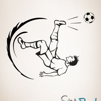 Vinyl Wall Decal Sticker Soccer Football Player Kick #GFoster129
