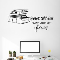 Vinyl Wall Decal Books Shop Quote Library Reading Room Decor Art Stickers Mural (ig5091)