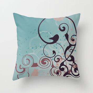 Design Swirl Cookie Coloring Throw Pillow by Sampsonknight