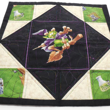 Candle Mat Halloween Table Topper Decoration Quilted Handmade