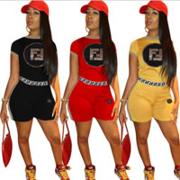 Fendi Womens Two Piece T-Shirt and Pants Set Clothing 9013