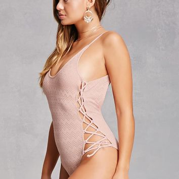 Laced One-Piece Swimsuit