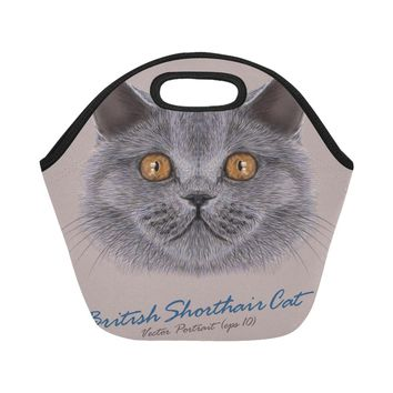 British Cat Lunch Bag