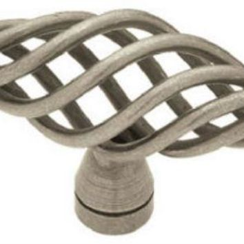 "Brainerd® 69193 Large Birdcage Oval Knob, 2-1/2"", Antique Pewter"