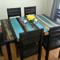 Free Shipping Distressed Rustic Dining Table