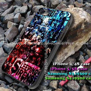 sleeping wiht sirens galaxy iphone case, iphone 4/4S, iphone 5/5S, iphone 5c, samsung s3 i9300, samsung s4 i9500, design accesories