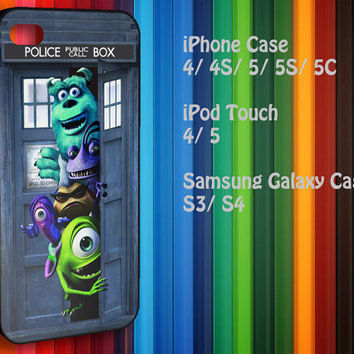 Samsung Galaxy S3/ S4 case, iPhone 4/4S / 5/ 5s/ 5c case, iPod Touch 4 / 5 case : Dr. Who The Tardis Monster Inc