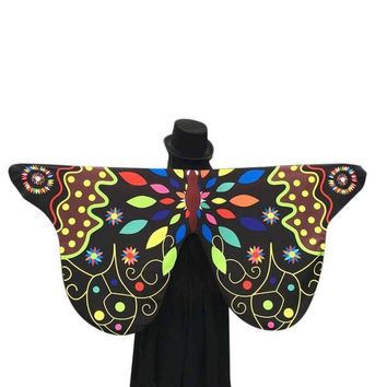 Novelty Desgin Soft Fabric Butterfly Wings Shawl Women Fairy Ladies Nymph Pixie Costume Accessory Pashmina Ladies 2017 #63