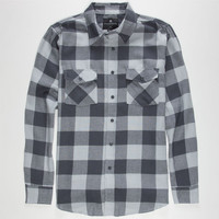 Shouthouse Lancaster Mens Flannel Shirt Charcoal  In Sizes