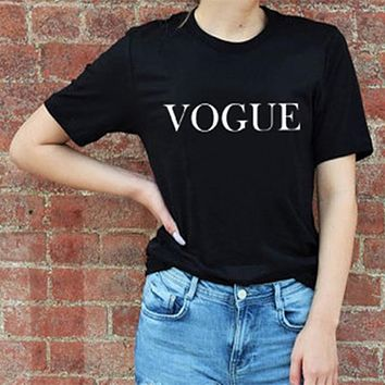Women's VOGUE Printed Fashion T-Shirt