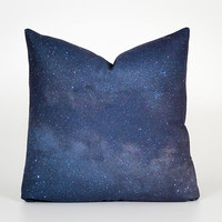 Outer Space Decor. Galaxy Pillow Case. Space Pillow Case. Space Themed Decor. Blue and Purple Pillow. Space Cushion. Galaxy Throw Pillow
