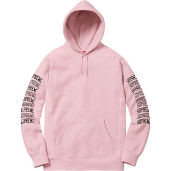 Supreme: Sleeve Arc Hooded Sweatshirt - Dusty Pink