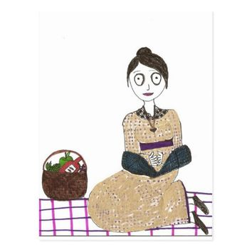 Creepy Jane Austen Picnic Postcard