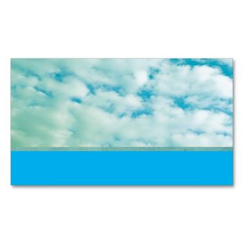 business card template nature photography clouds