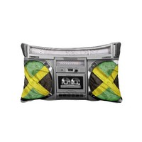 Jamaica boombox pillow