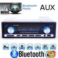 1-DIN 12V Stereo MP3 Player/FM/SD/AUX/USB/Bluetooth Interface Car In-Dash Radio Input Receiver w/ Remote Control