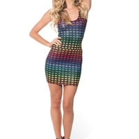 Rainbow Space Invaders Dress