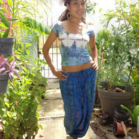 Authentic Super Cool and Comfortable Hand Made Mexican Harem/Parachute/Aladdin Pants from Chiapas