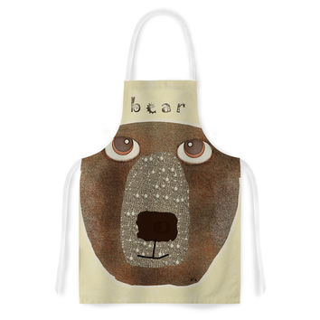 "Bri Buckley ""Bear"" Brown Tan Artistic Apron"