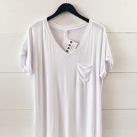Lucca Pocket Tee In White
