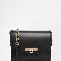 ASOS Scallop Cross Body Bag With Laser Cut Out at asos.com
