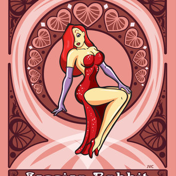 Disney Pin-up girls, Cinderella, Jessica Rabbit