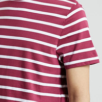 Slim Burgundy Stripe T-Shirt - Topman