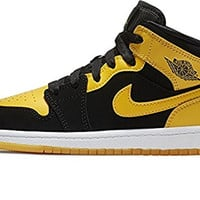 Nike Boy's Air Jordan 1 (Mid) Basketball Shoes