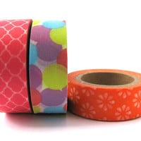 Washi Tape Set of 3 Designs - 30 metres total