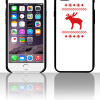 moose caribou reindeer deer christmas norwegian knitting pattern rudolph rudolf winter snowflake sno 5 5s 6 6plus phone cases