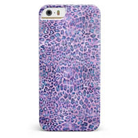 Purple Watercolor Leopard Pattern iPhone 5/5s or SE INK-Fuzed Case