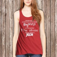 Lord of the rings HOGWARTS JEDI Funny Quotes Meme Women Tanktop - tri1 Tanktop For Women  / Custom - Tanktop / Women Tanktop