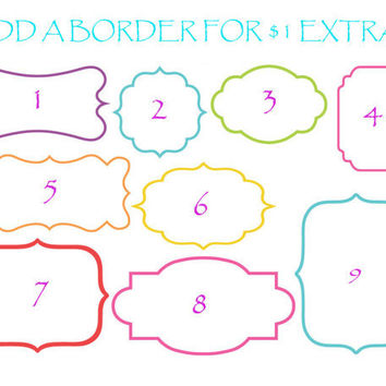 ADD a BORDER or FRAME To Any Of the Decals by OwlOutfitters