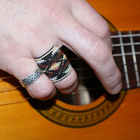 Adjustable Detailed Wide Beaded Band Boho Ring... Your size or Adjustable...Gorgeous design...