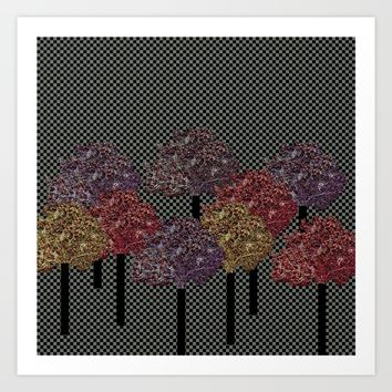 Autumn trees Art Print by Bozena Wojtaszek