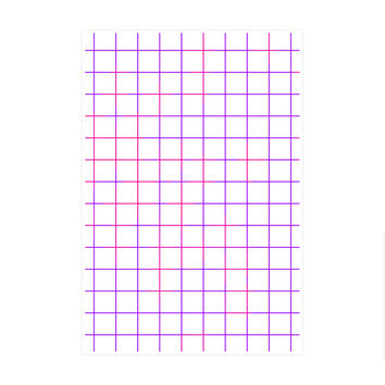 Purple Pink Grid Art Print