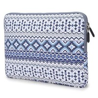 Coodio® ShockProof 35.8 cm (14 inch) Ultrabook Laptop Notebook Pattern Sleeve Bag for Chromebook 14 - Bohemian Stripe Blue