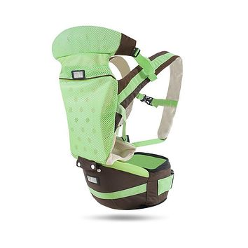 UUMU 0-36Months Breathe Free Cotton New Born Baby Backpack Hip Seat Carrier Slings Wrap Front Facing Back Carry Loding 20KG