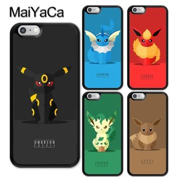 MaiYaCa POKEMONS INSPIRED EEVEE EEVEELUTIONS Soft TPU Coque Skin Phone Case For iPhone 6 6S Plus 7 8 Plus X 5 5S SE Back Cover